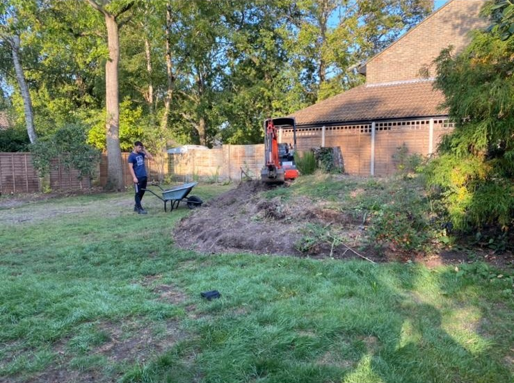 Before image of Garden Transformation