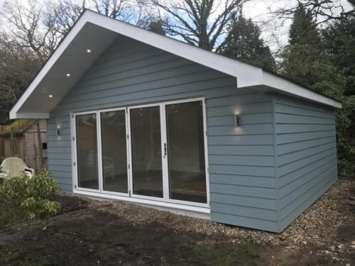 Marley eternit cedral lap cladded garden room.