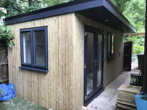 Softwood garden room