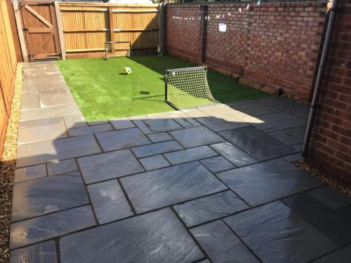 Artificial grass and patio install